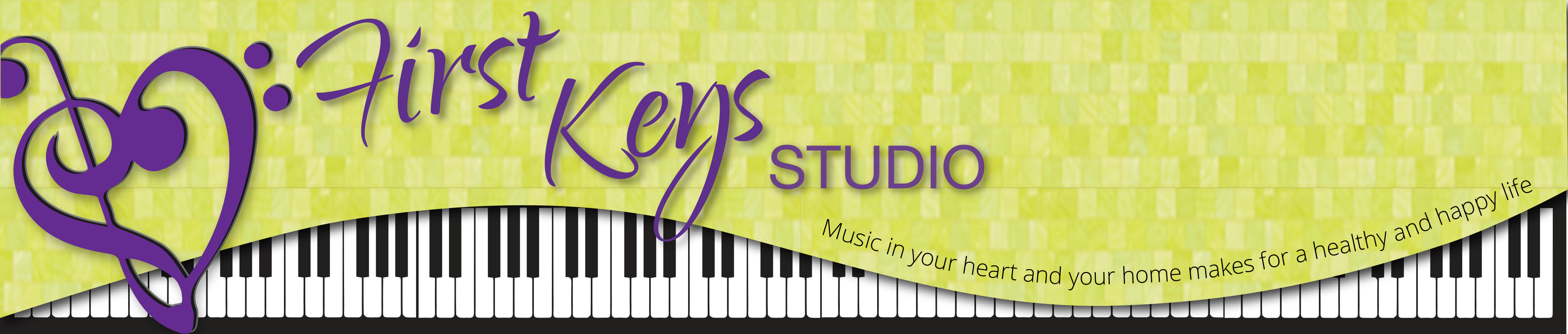 logo for first keys studio in Courtenay BC, designed by Maggie Ziegler