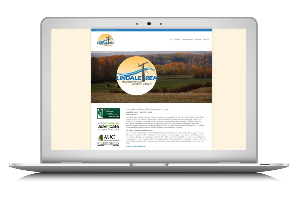 a website designed and built by Maggie Ziegler Artist and Designer in Courtenay BC for the LIndale REA