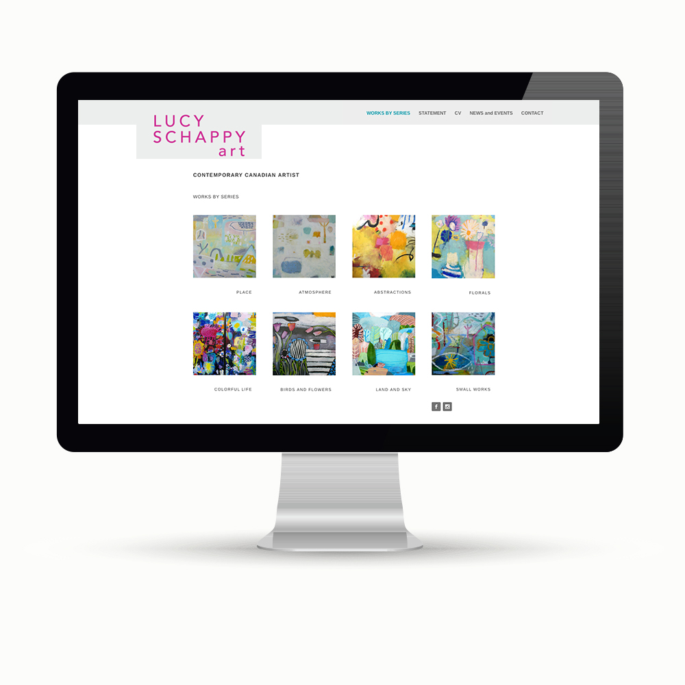 Website design by Maggie Ziegler artist and designer Courtenay BC