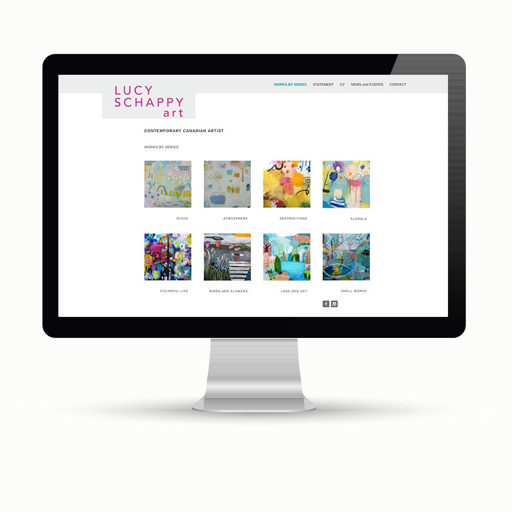 Website design by Maggie Ziegler artist and designer Courtenay BC