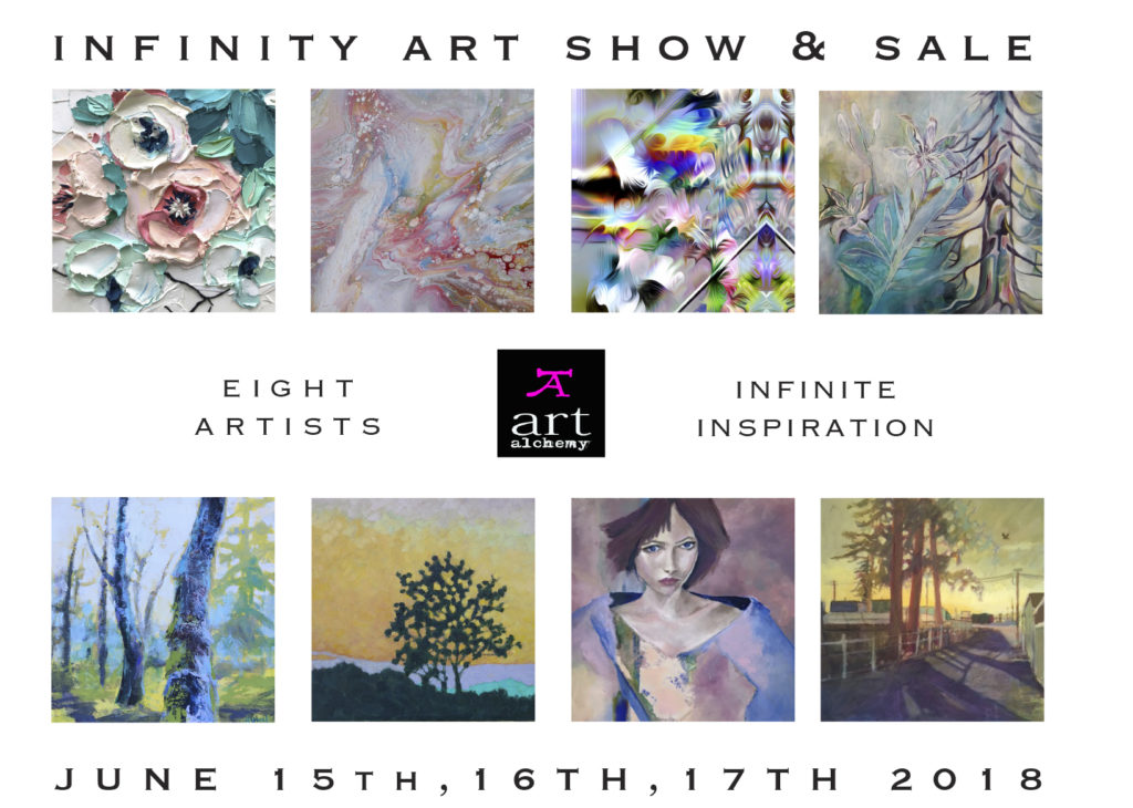 Infinity Art Show at Art Alchemy Studio Courtenay BC