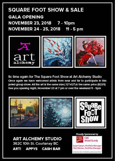 Square Foot Show 2018 Art Alchemy Courtenay BC